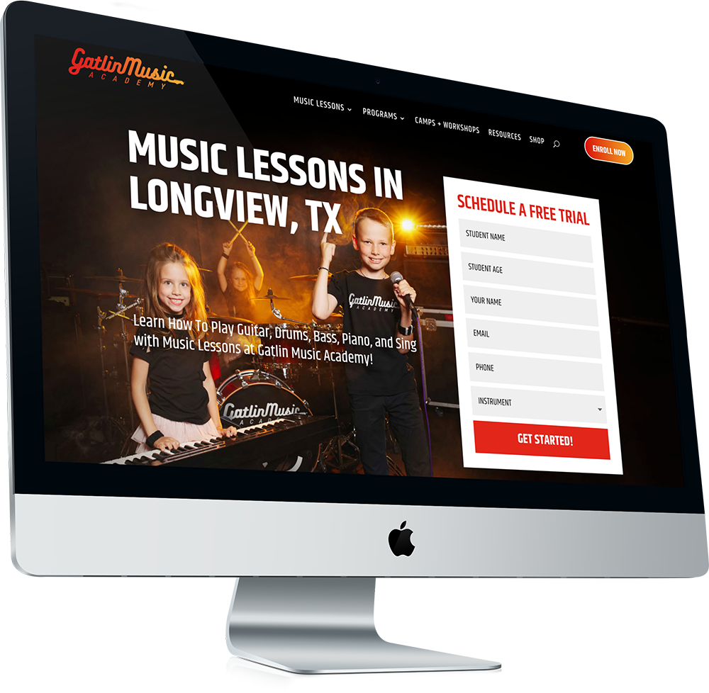 Gatlin-Music-Academy-Website