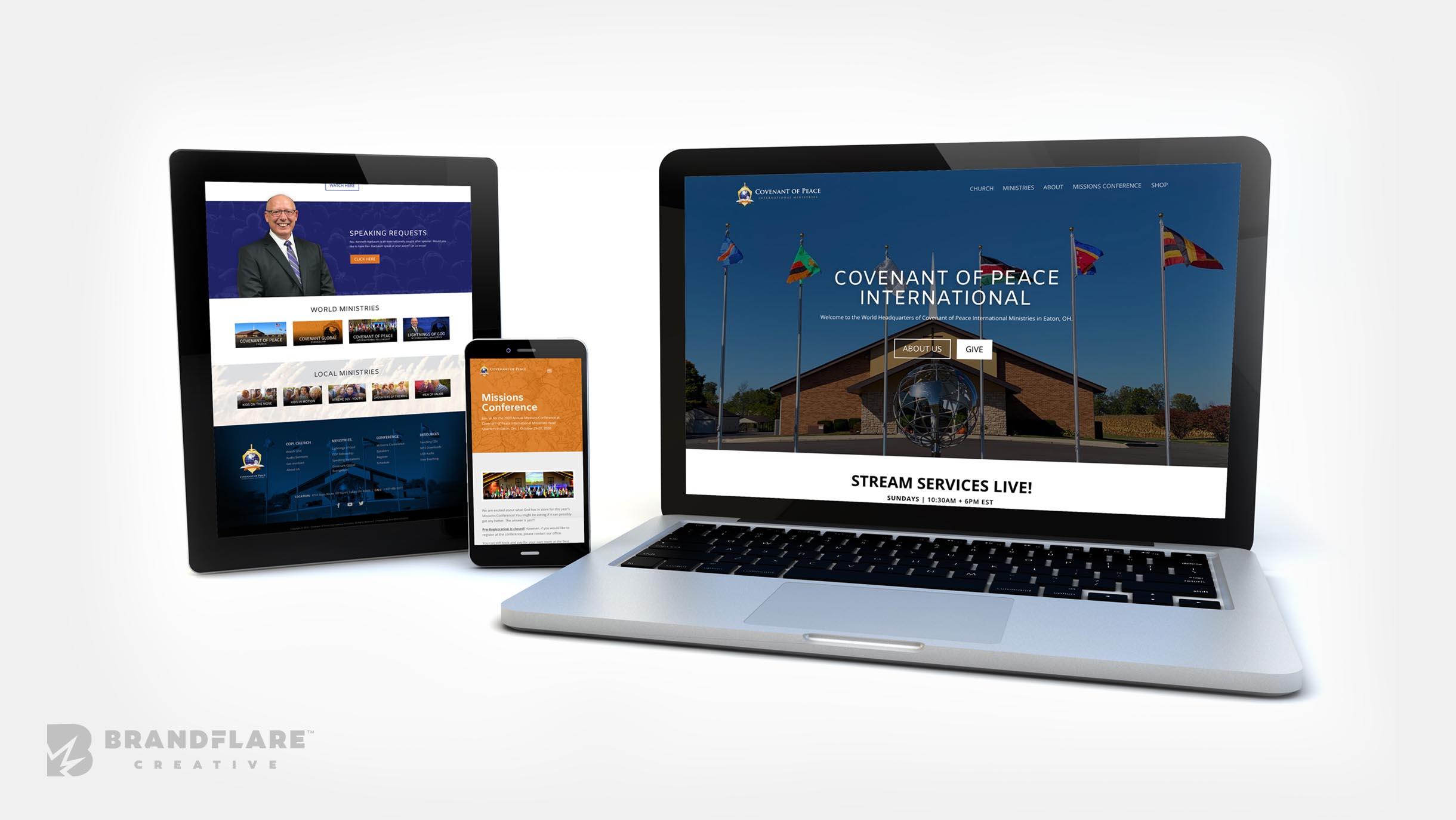 Covenant of Peace Church Website - BrandFlare Creative