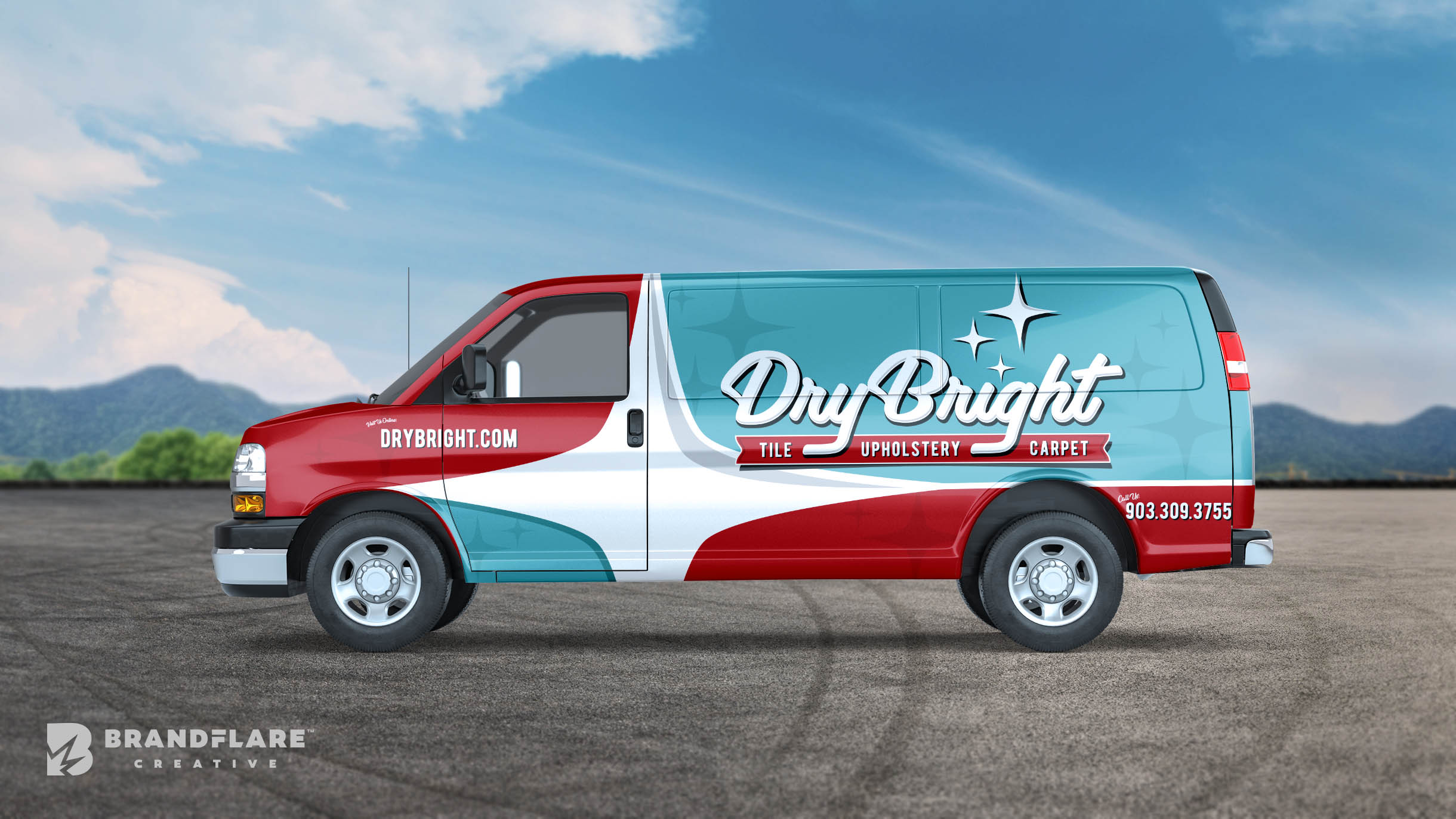 DryBright Van Wrap Design - BrandFlare Creative