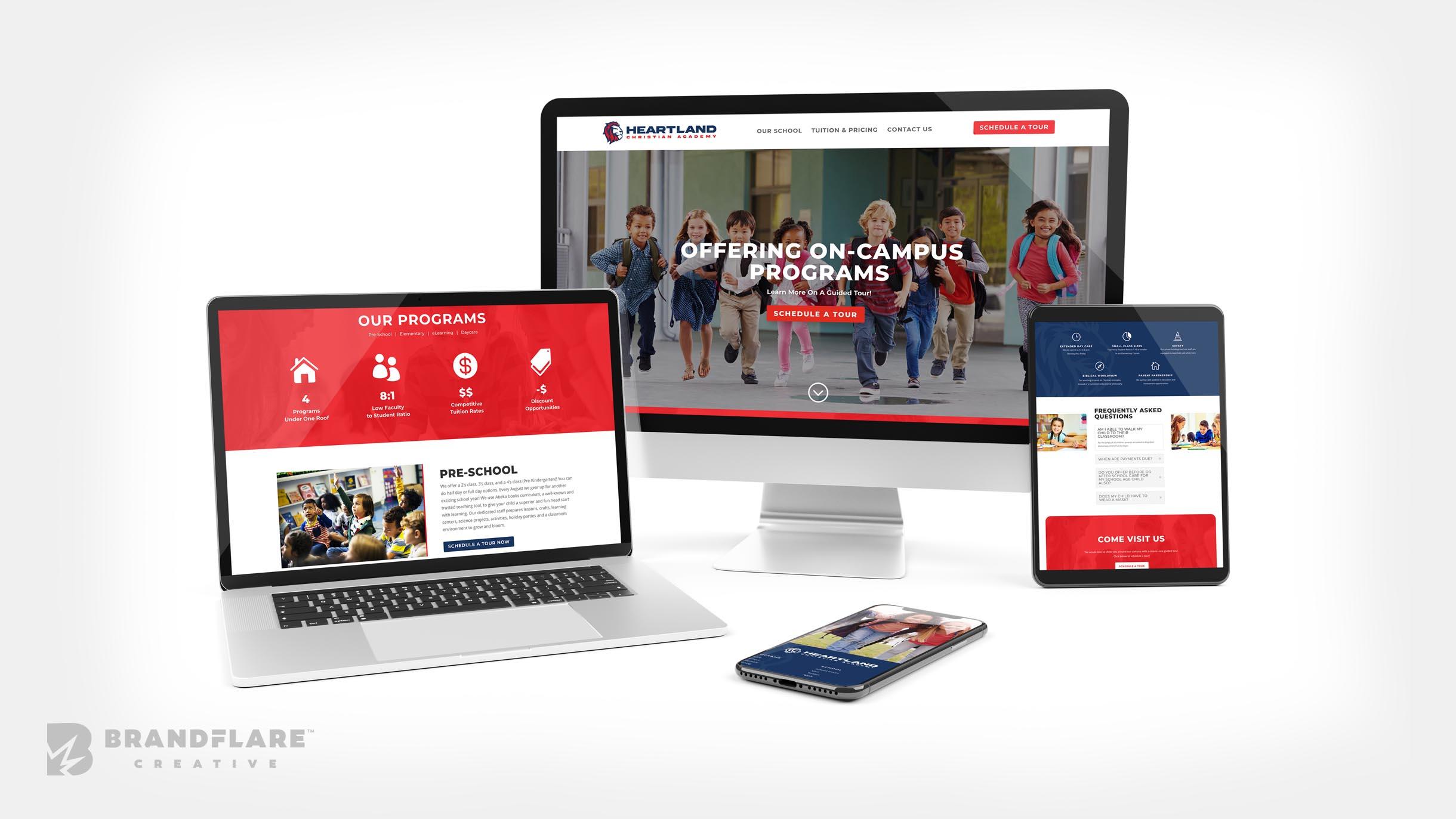 Heartland Christian Academy - School Website Design and Development - BrandFlare Creative