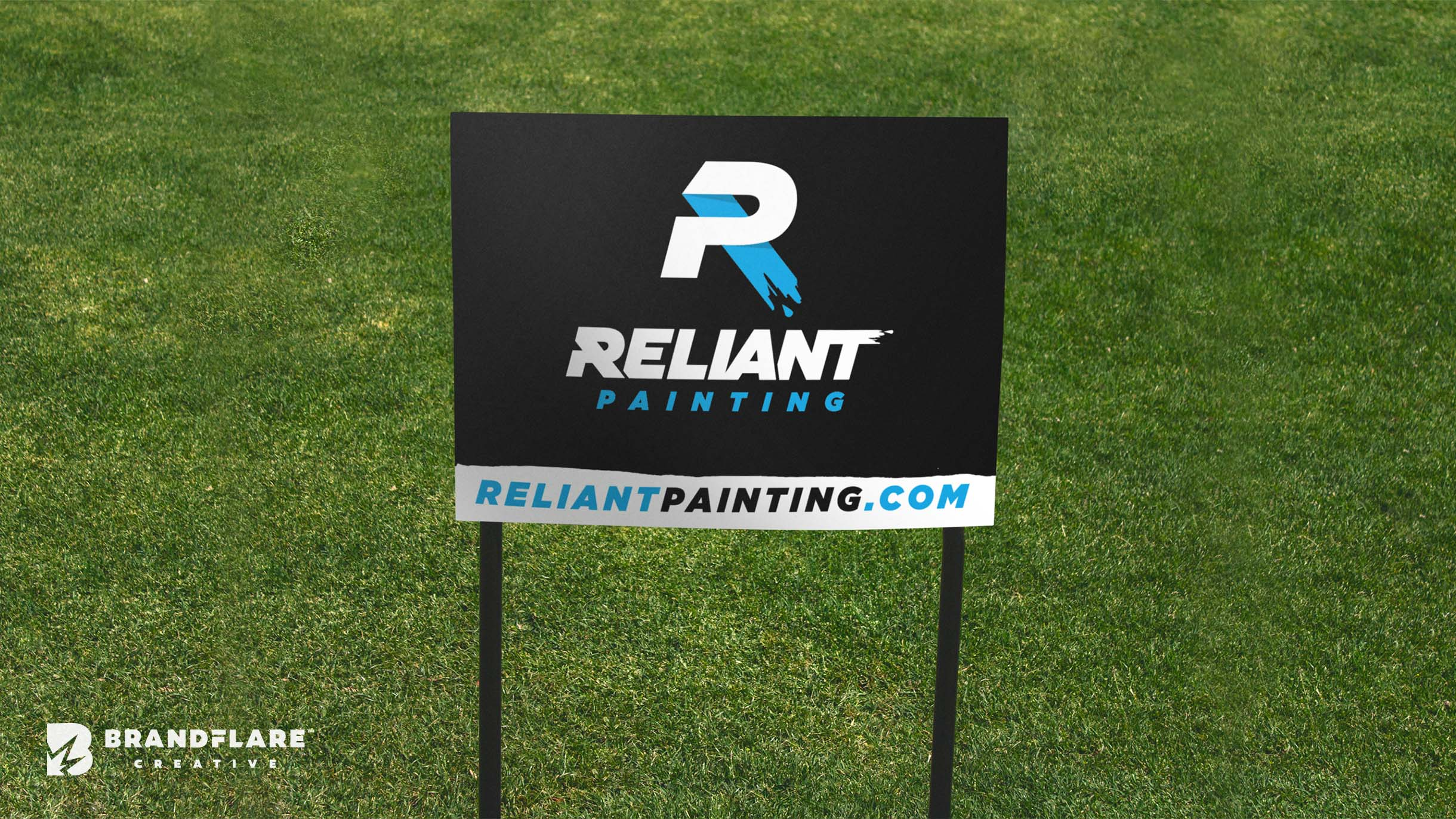 Reliant Painting Yard Sign Design