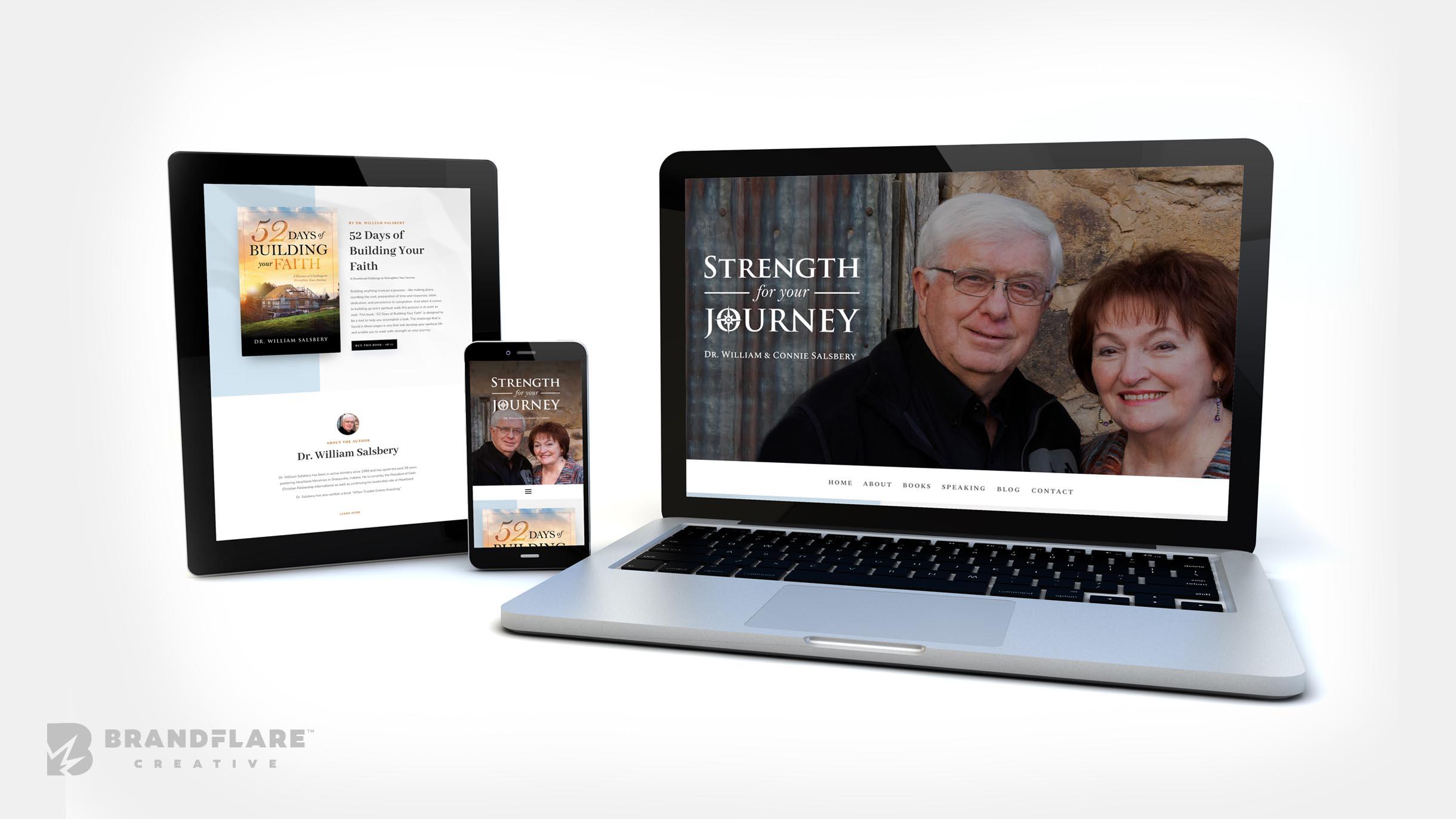 Strength for your journey Website design