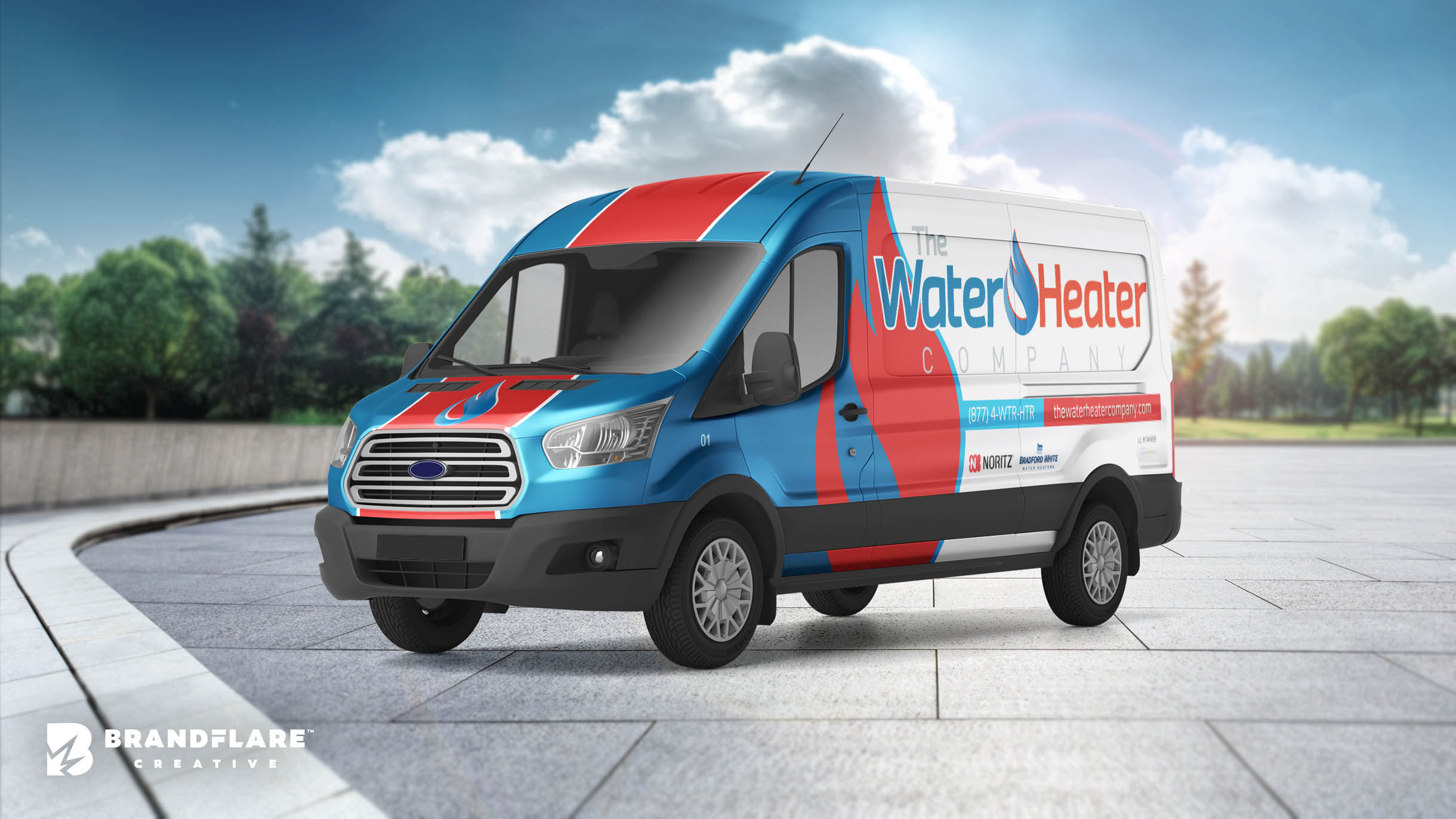 The Water Heater Company Van Wrap Design - BrandFlare Creative - Vehicle Wrap Design 2