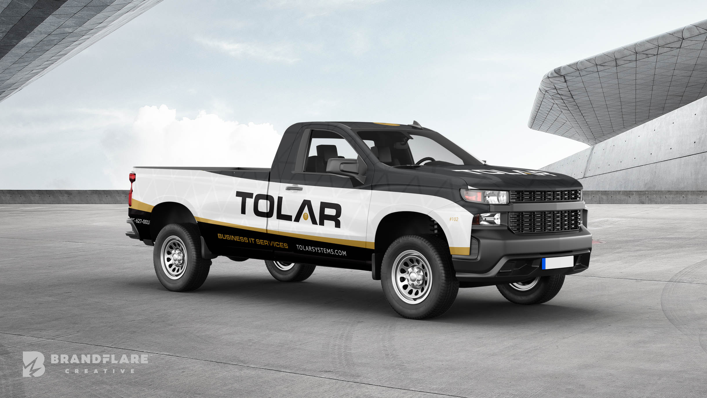 Tolar Systems Truck Wrap - BrandFlare Creative - Vehicle Wrap Design